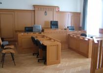 Egy tárgyalóterem az épületben