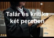 Embedded thumbnail for Talár és kritika két percben